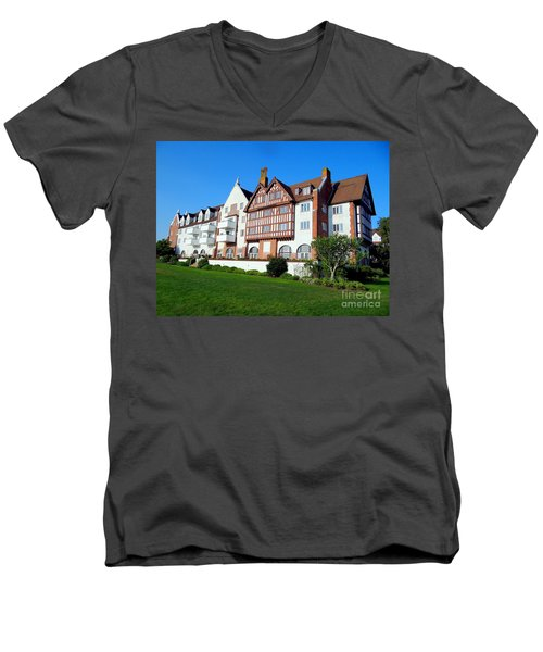 Montauk Manor Men's V-Neck T-Shirt by Ed Weidman