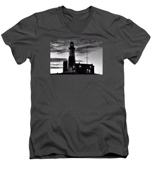 Montauk Point Men's V-Neck T-Shirt