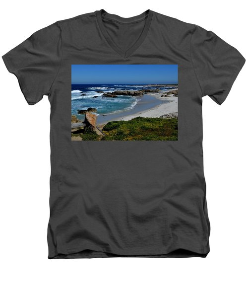 Men's V-Neck T-Shirt featuring the photograph Monterey-1 by Dean Ferreira