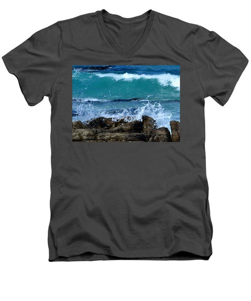 Men's V-Neck T-Shirt featuring the photograph Monterey-3 by Dean Ferreira