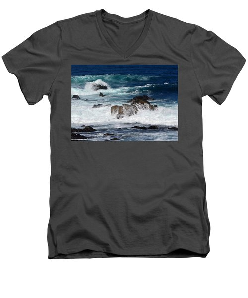 Men's V-Neck T-Shirt featuring the photograph Monterey-6 by Dean Ferreira