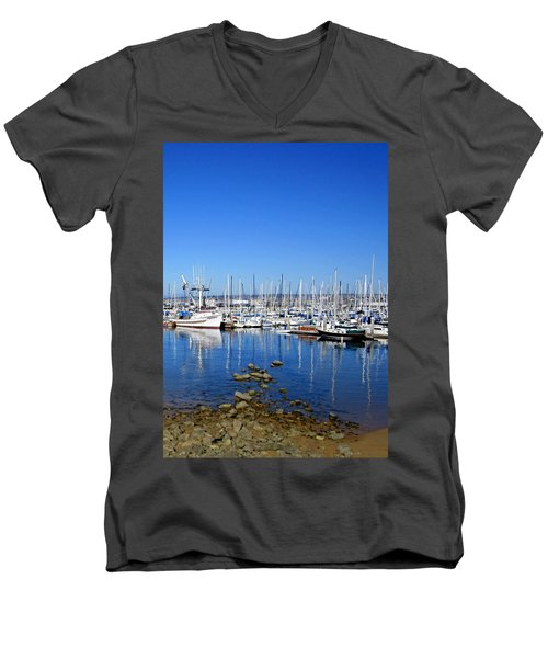 Men's V-Neck T-Shirt featuring the photograph Monterey-7 by Dean Ferreira