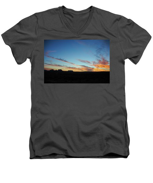 Monument Valley Sunset 2 Men's V-Neck T-Shirt