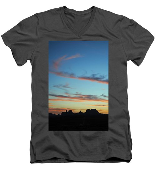 Monument Valley Sunset 3 Men's V-Neck T-Shirt