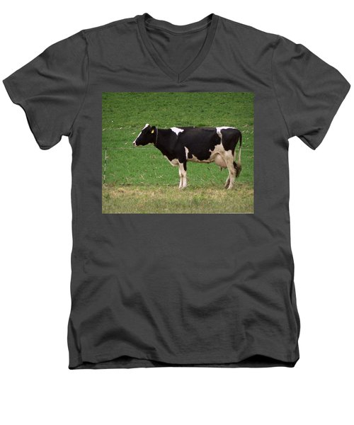 Men's V-Neck T-Shirt featuring the photograph Moo by Joseph Skompski