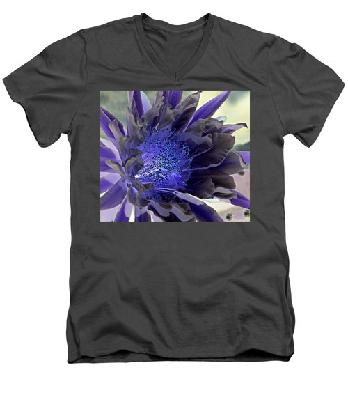 Men's V-Neck T-Shirt featuring the photograph Moody Blues by Antonia Citrino