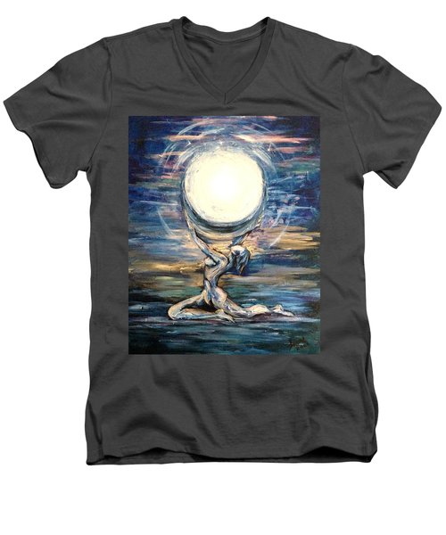 Moon Goddess Men's V-Neck T-Shirt