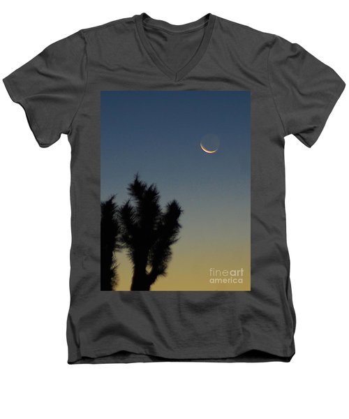 Men's V-Neck T-Shirt featuring the photograph Moon Kissed by Angela J Wright