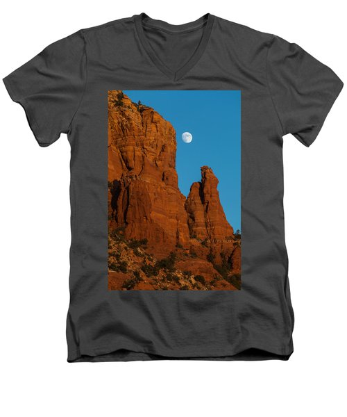 Moon Over Chicken Point Men's V-Neck T-Shirt