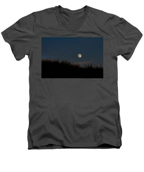 Moon Over The Dunes Men's V-Neck T-Shirt