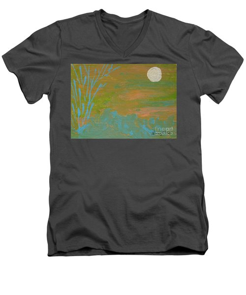 Moonlight In The Wild Men's V-Neck T-Shirt