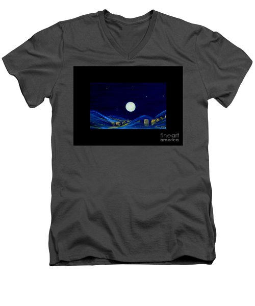 Moonlight. Winter Collection Men's V-Neck T-Shirt