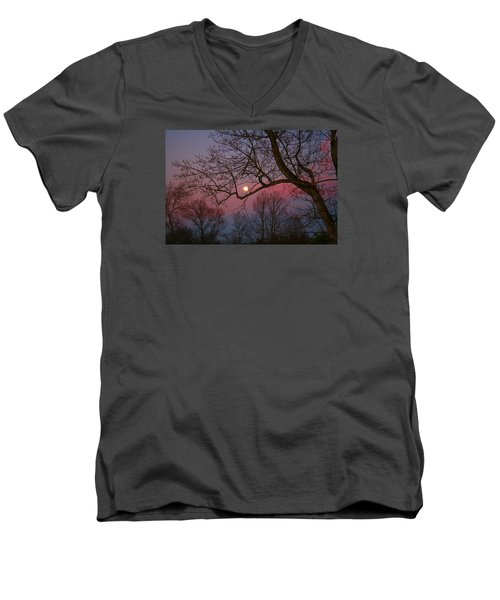 Moonrise Men's V-Neck T-Shirt by Kathryn Meyer