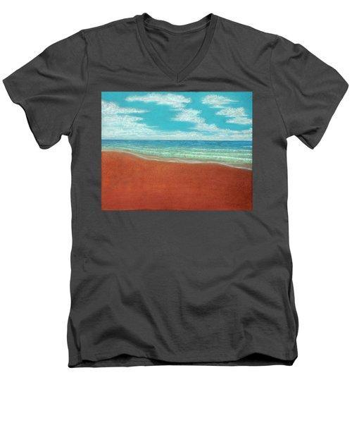 Moonset A Men's V-Neck T-Shirt