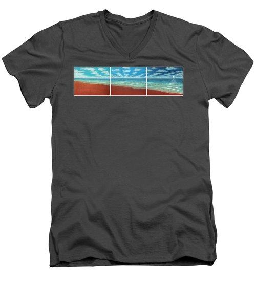 Moonset Triptych Men's V-Neck T-Shirt