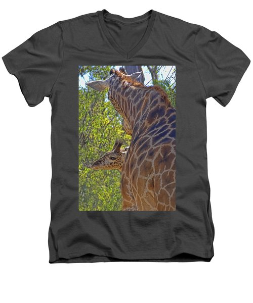 Men's V-Neck T-Shirt featuring the photograph Mooom Im Bored by Gary Holmes