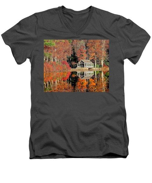 Moore State Park Autumn II Men's V-Neck T-Shirt