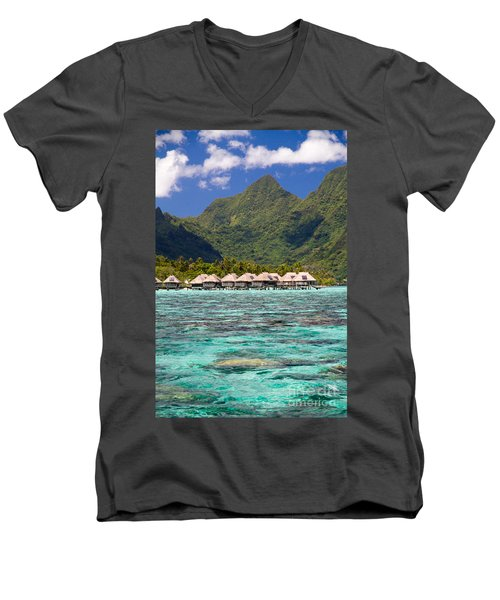 Moorea Lagoon No 3 Men's V-Neck T-Shirt