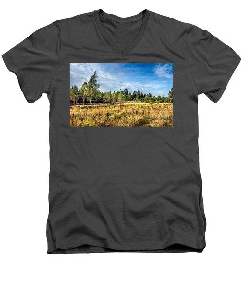 Wetlands In The Black Forest Men's V-Neck T-Shirt