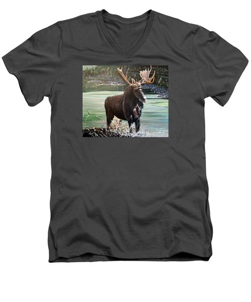 Moose County Men's V-Neck T-Shirt