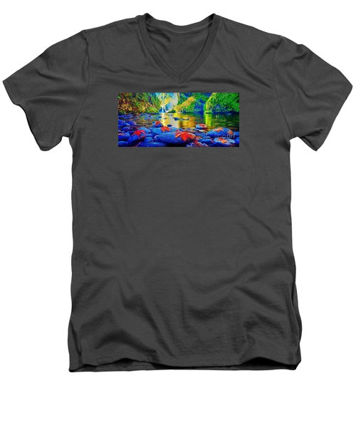 More Realistic Version Men's V-Neck T-Shirt by Catherine Lott