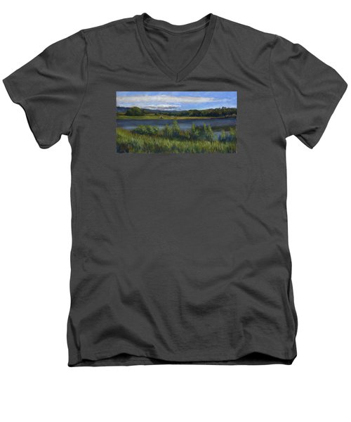 Morey Wildlife Park Men's V-Neck T-Shirt by Billie Colson