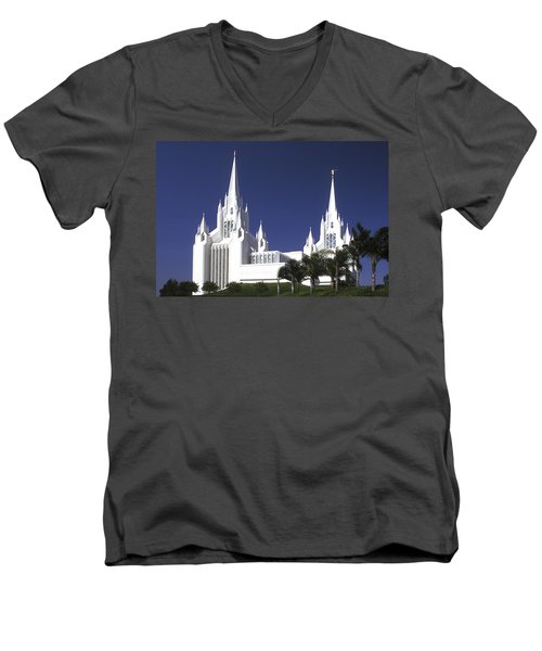 Mormon Temple Men's V-Neck T-Shirt