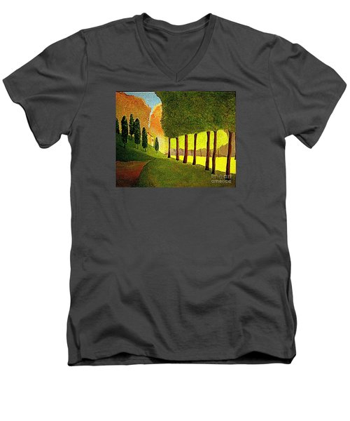 Chambord Morning By Bill O'connor Men's V-Neck T-Shirt by Bill OConnor