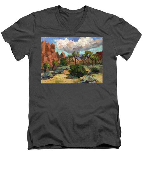 Morning At Joshua Men's V-Neck T-Shirt