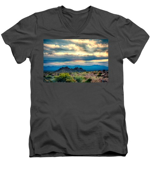 Morning Desert Glow Men's V-Neck T-Shirt