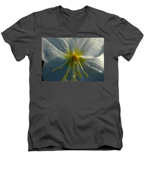 Morning Dew Men's V-Neck T-Shirt by Steven Reed