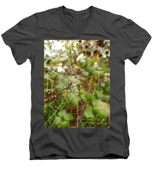 Men's V-Neck T-Shirt featuring the photograph Morning Dew by Vicki Spindler