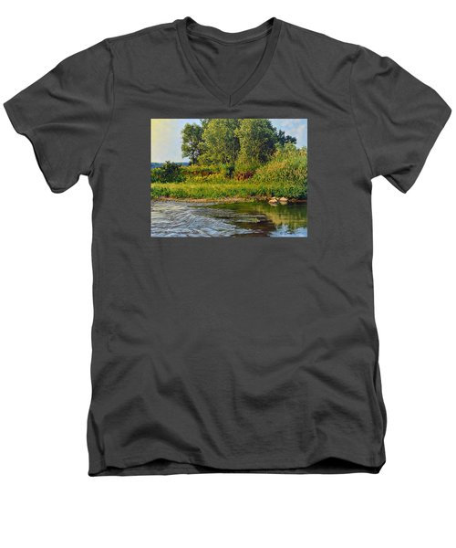 Morning Glow Men's V-Neck T-Shirt by Bruce Morrison