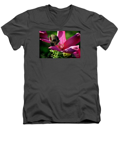 Men's V-Neck T-Shirt featuring the photograph In The Morning by Nava Thompson