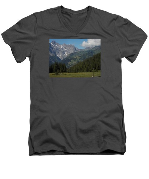 Morning In The Alps Men's V-Neck T-Shirt