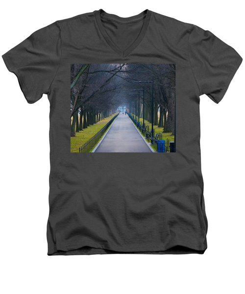 Morning In Washington D.c. Men's V-Neck T-Shirt
