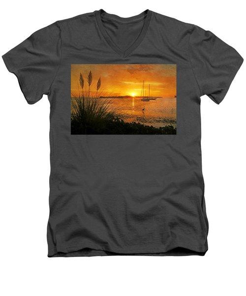 Morning Light - Florida Sunrise Men's V-Neck T-Shirt