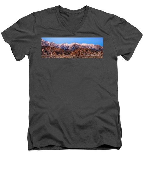 Morning Light Mount Whitney Men's V-Neck T-Shirt