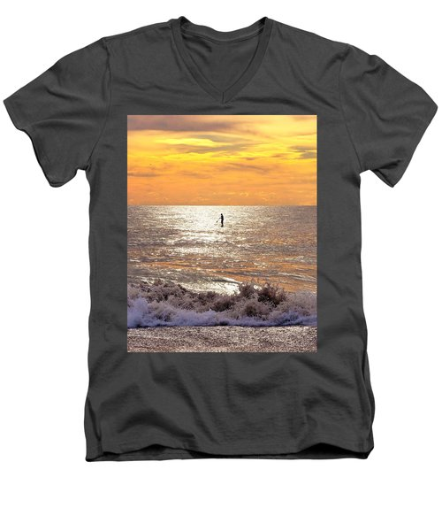 Sunrise Solitude Men's V-Neck T-Shirt