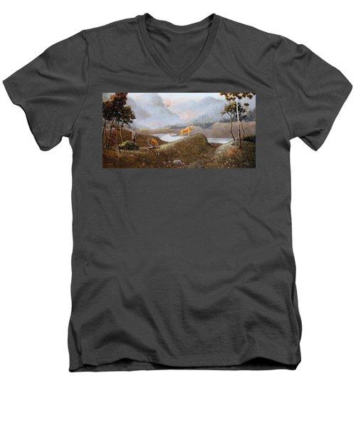 Morning Mist Men's V-Neck T-Shirt by Duane R Probus