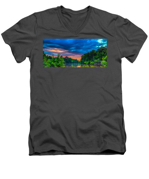 Morning On The Lake Men's V-Neck T-Shirt