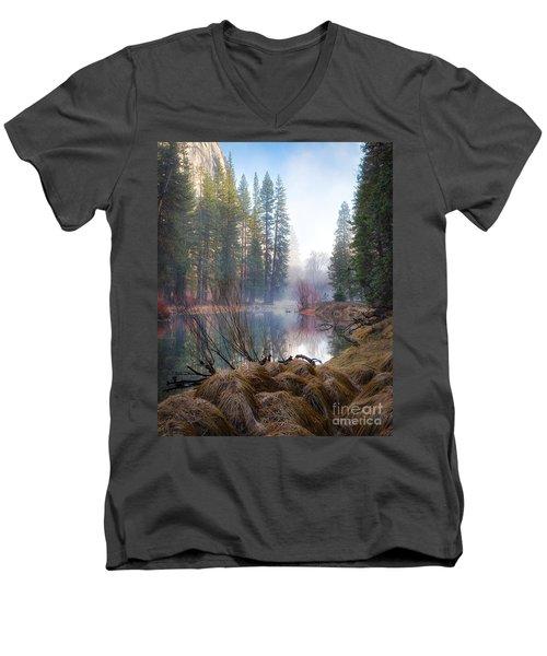 Morning On The Merced Men's V-Neck T-Shirt