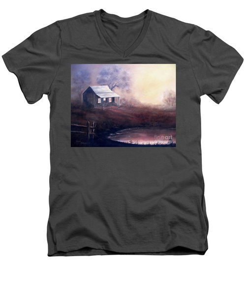 Morning Reflections Men's V-Neck T-Shirt by Hazel Holland
