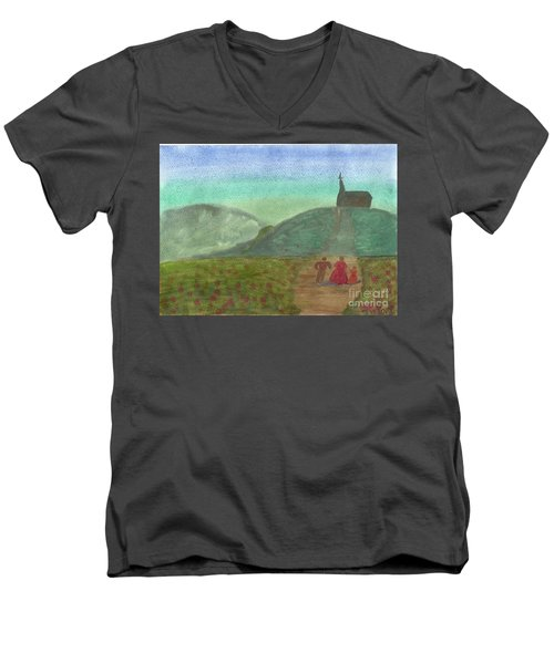 Morning Worship Men's V-Neck T-Shirt