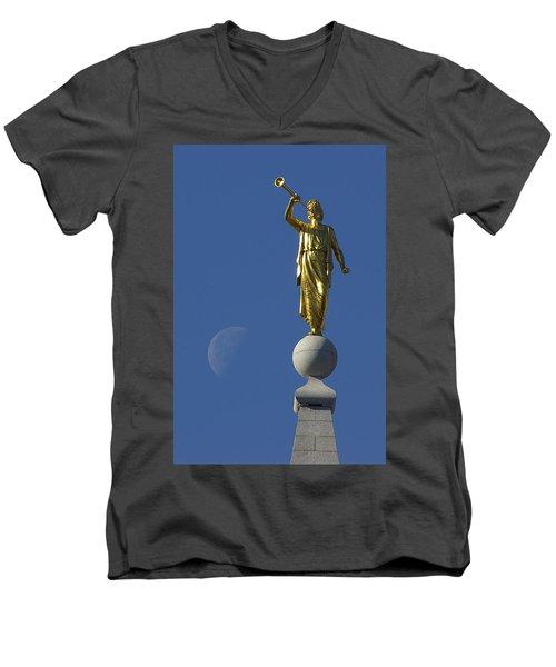 Moroni And The Moon Men's V-Neck T-Shirt