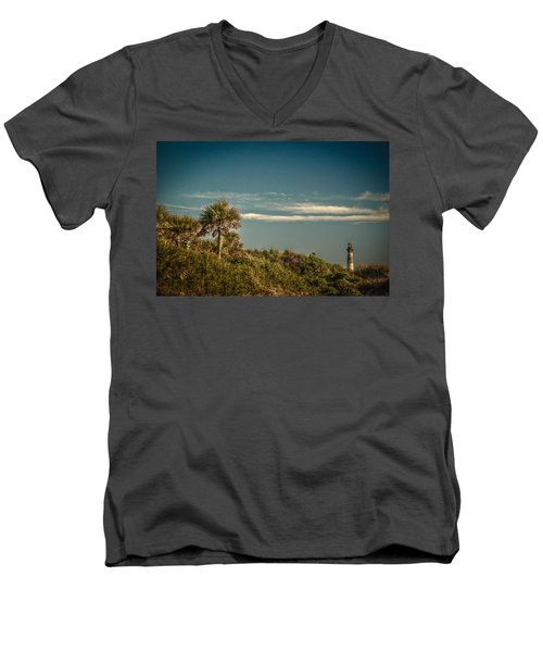 Morris Island Light Charleston Sc Men's V-Neck T-Shirt