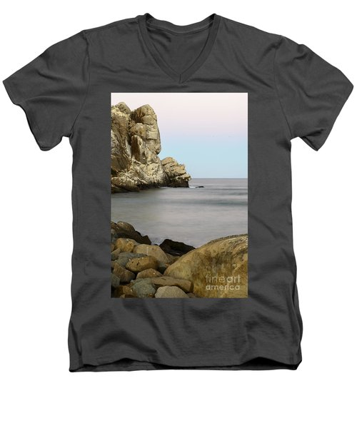 Morro Bay Morning 2 Men's V-Neck T-Shirt