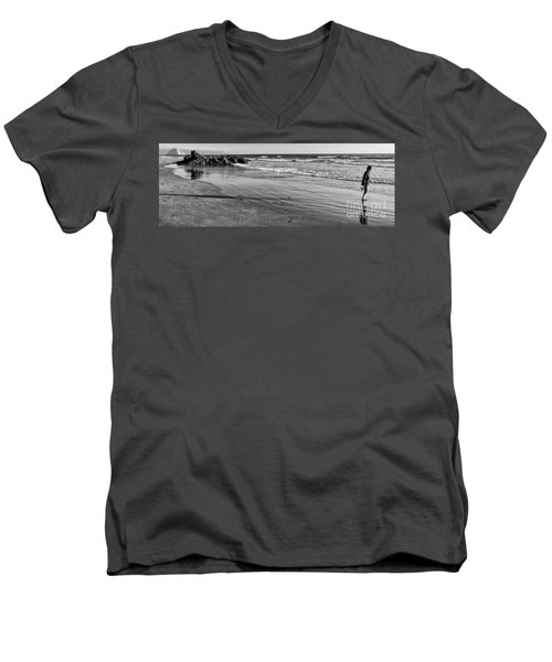 Morro Beach Walk Men's V-Neck T-Shirt