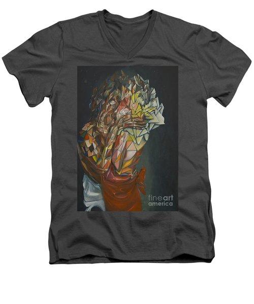 Mosaic Embrace Men's V-Neck T-Shirt