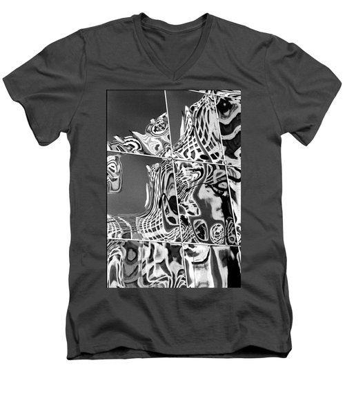 Men's V-Neck T-Shirt featuring the photograph Mosaic by Steven Huszar